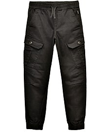 Big Boys Cayden Slanted Cargo Stretch Jogger Pants
