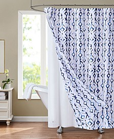 "Sunset Park Shabori 70"" x 72"" Shower Curtain and Liner Set, 14 Piece"