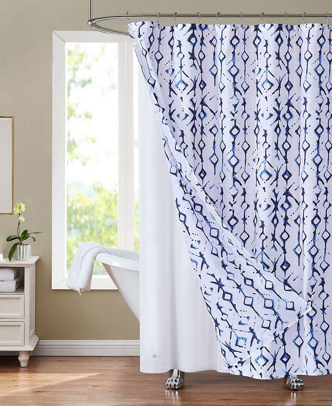 "Olivia Gray Sunset Park Shabori 70"" x 72"" Shower Curtain and Liner Set, 14 Piece"