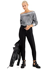 Kendall + Kyle Juniors' Coated High-Rise Skinny Ankle Jeans