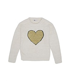 Big Girls Heart Graphic Sweater
