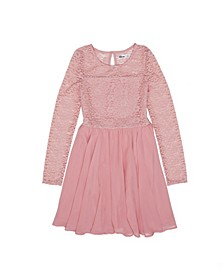 Big Girls Lace Long Sleeve Dress