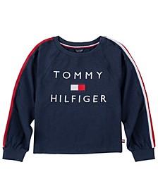 Big Girl Tommy Flag Crewneck with Embroidery Sweatshirt