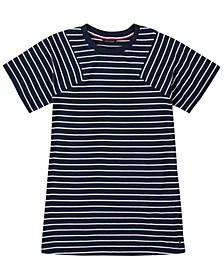 Big Girl Yarn Dye Stripe Pieced Sleeve Dress