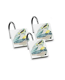 Shell Rummel Butterfly Shower Hooks Set