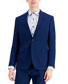 Men's Techni-Cole Blue Suit Separate Slim-Fit Suit Jacket
