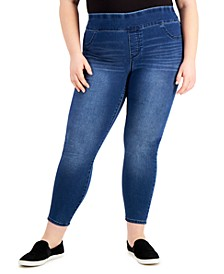 Plus Size High-Rise Jeggings, Created for Macy's