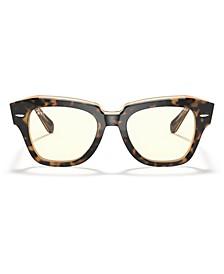Unisex State Street Blue Light Sunglasses, RB2186 49