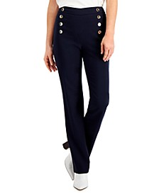 Straight-Leg Sailor Pants, Created for Macy's