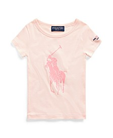 Little Girls Pink Pony Graphic Tee