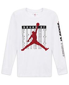 Big Boys Jumpman Flight Logo Long Sleeve T-shirt