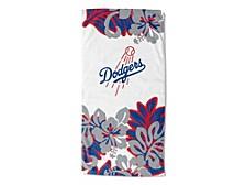"Los Angeles Dodgers 30x60 ""Flower Power"" Beach Towel"
