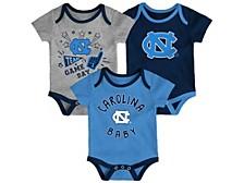 Newborn Girls North Carolina Tar Heels 3piece Creeper Set