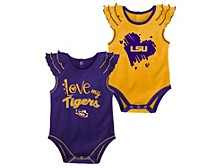 Newborn LSU Tigers Girls Touchdown Set