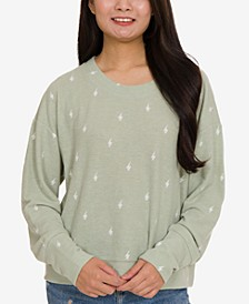 Juniors' Cozy Banded-Hem Sweatshirt