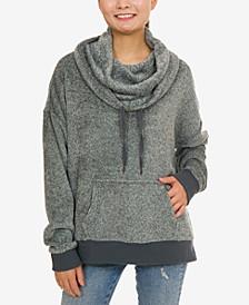 Juniors' Plush Funnel-Neck Sweatshirt