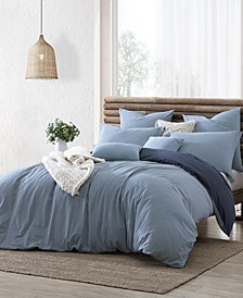 Ultra Soft Valatie Cotton Garment Washed Dyed Reversible 3 Piece Duvet Cover Set, California King