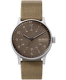 SKAGEN Men's Norre Khaki Cordura Nato Strap Watch 42mm