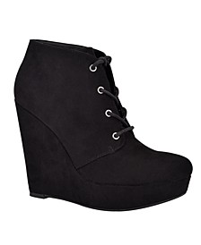 Women's Aheela Women's Lace-up Wedge Bootie