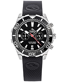 Men's Chronograph Skipper Black Silicone Strap Watch 44mm, Created for Macy's