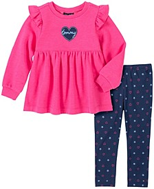 Little Girls 2 Piece Tunic and Legging Set