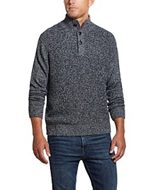 Men's Button Mock Marl Sweater