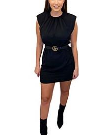 Women's Shoulder Padded Shift Dress