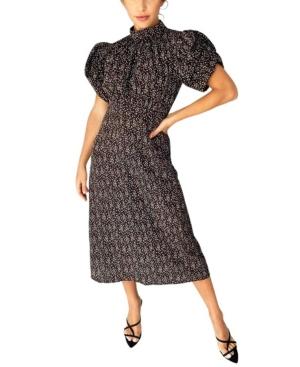 Women's Ditsy Printed Midi Dress
