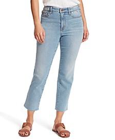 Mid-Rise Embroidered Cropped Bootcut Jeans