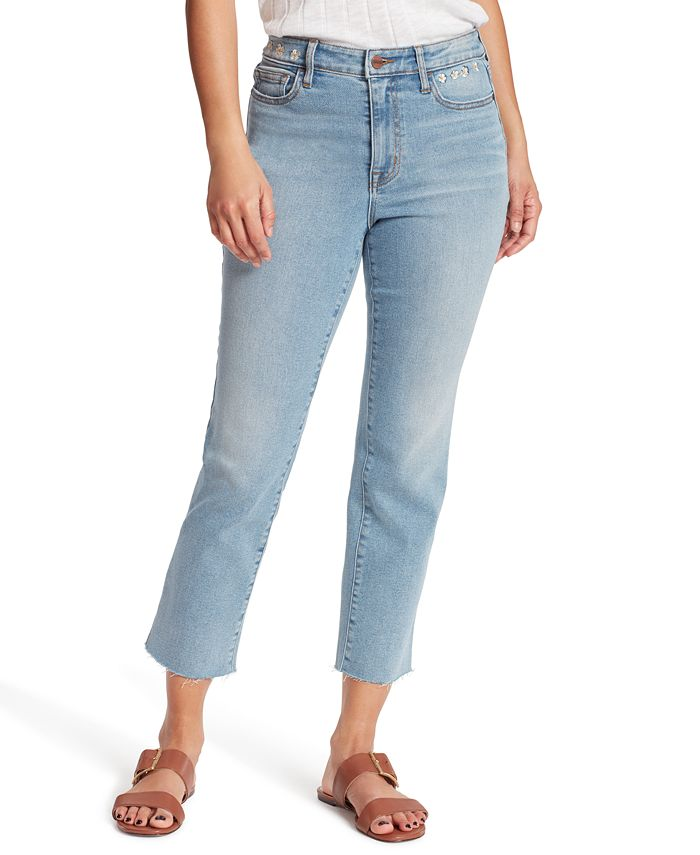 Sanctuary - Embroidered Cropped Bootcut Jeans