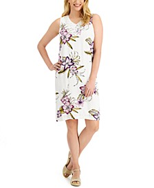 Tropica Floral-Print Shift Dress, Created for Macy's