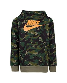 Toddler Boys Camo Printed Fleece Hoodie