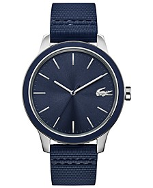 Men's Blue Silicone Strap Watch 44mm