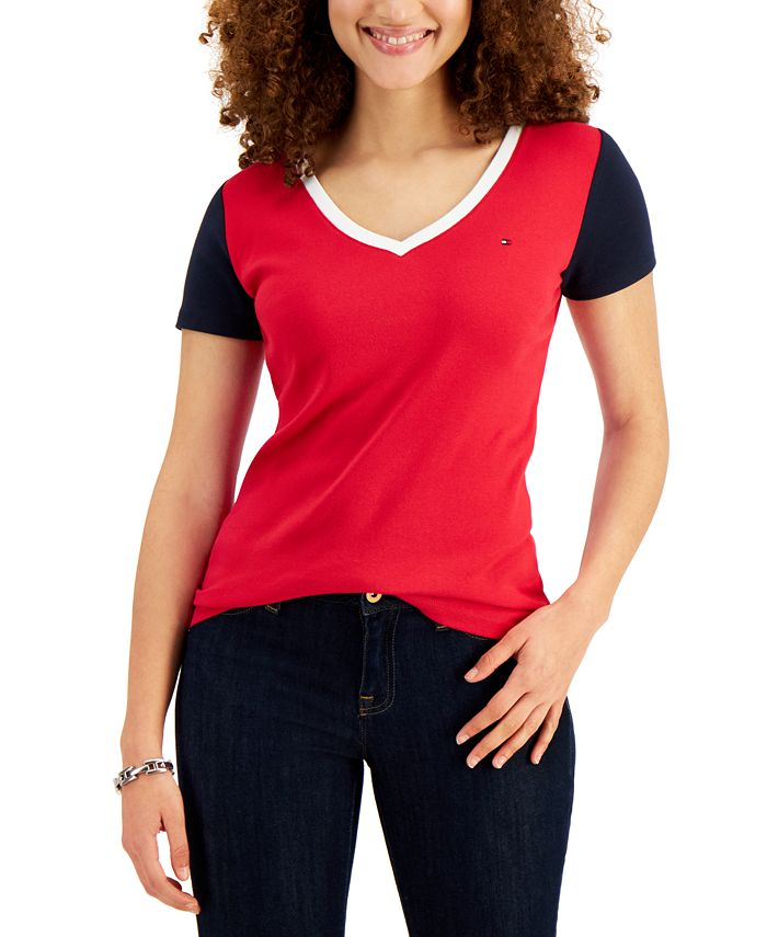 Tommy Hilfiger - Cotton Colorblocked T-Shirt