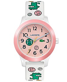 Kid's 12.12 White Printed Silicone Strap Watch 32mm