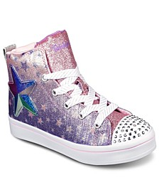 Little Girls Twinkle Toes Twi-Lites - Starry Gem Casual Sneakers from Finish Line