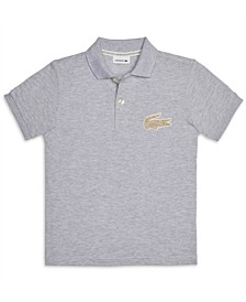 Big Boys Short Sleeve Cotton Petit Pique Polo Shirt
