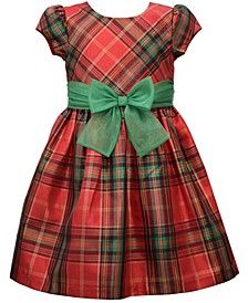 Little Girls Plaid Waistline Dress