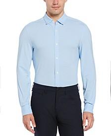 Men's Slim Fit Dobby Long Sleeve Button-Down Stretch Shirt