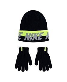 Big Boys Beanie and Gloves Set