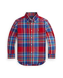 Toddler Boys Plaid Poplin Shirt