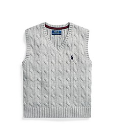 Toddler Boys Cable Knit Sweater Vest