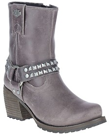 Women's Studded Harness Boot