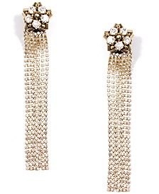 Gold-Tone Crystal & Bead Shooting Star Statement Earrings