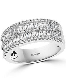 EFFY® Diamond Baguette Double Row Ring (1-1/3 ct. t.w.) in 14k White Gold
