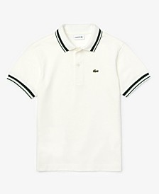 Little Boys Short Sleeve Cotton Petit Pique Polo Shirt