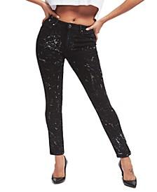 Splatter-Paint Skinny Jeans