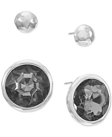 Silver-Tone 2-Pc. Set Crystal Stud Earrings, Created for Macy's