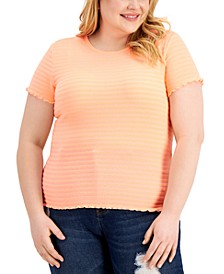 Trendy Plus Size Pretty Pucker Smocked Top