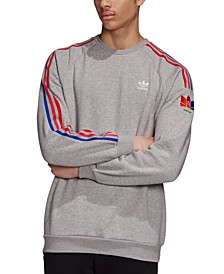 adidas Men's Originals 3D Trefoil Crewneck Sweatshirt